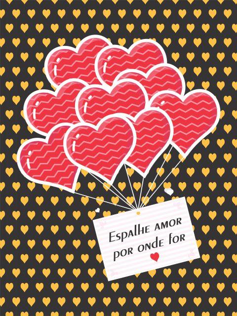 Poster Espalhe Amor Por Onde For