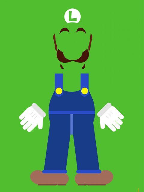 Poster Luigi Minimalista  jogos