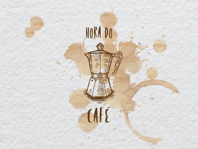 Poster Hora do café