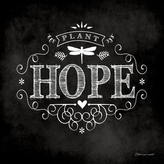 Poster Hope chalkboard