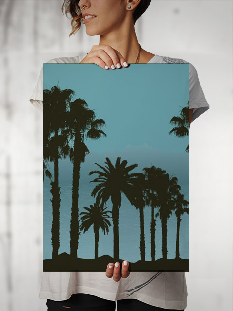 Poster Tropical Landscape   Palm Trees palmeiras árvores