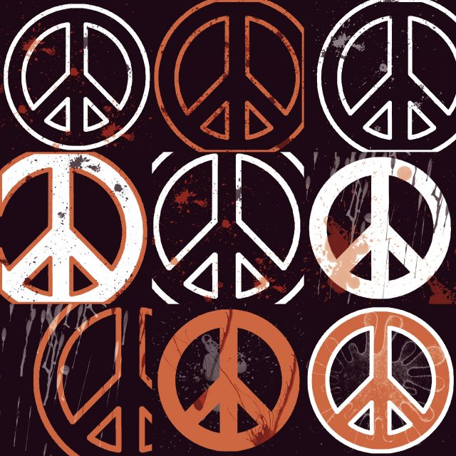 Poster Peace Mantra (orange)