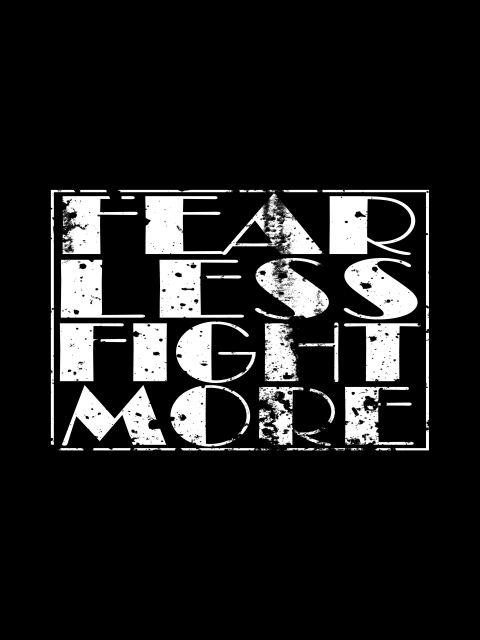 Poster Fear Less_Black