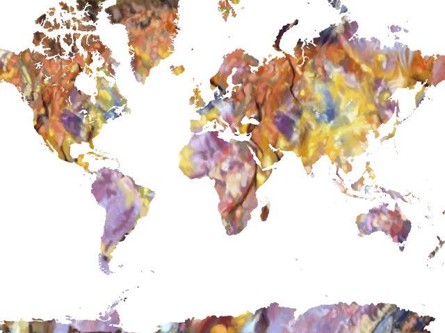 Poster Mapa do mundo