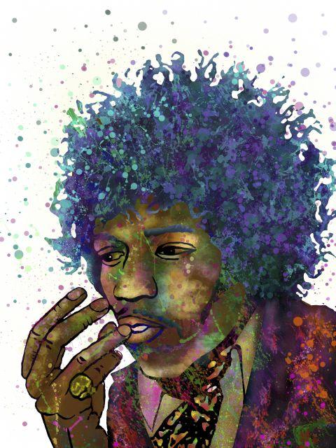 Poster Jimi Hendrix Pop