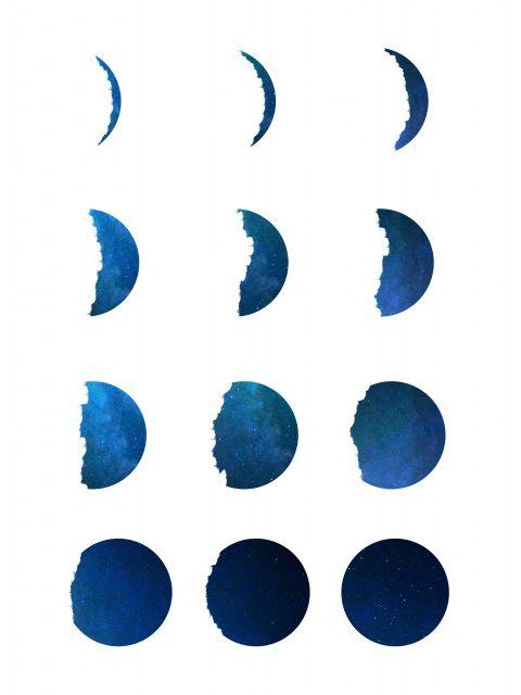 Poster Fases da Lua II