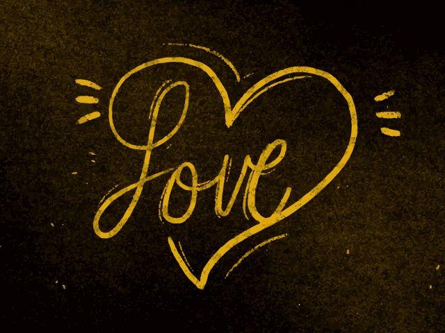 Poster Love Dourado  amor
