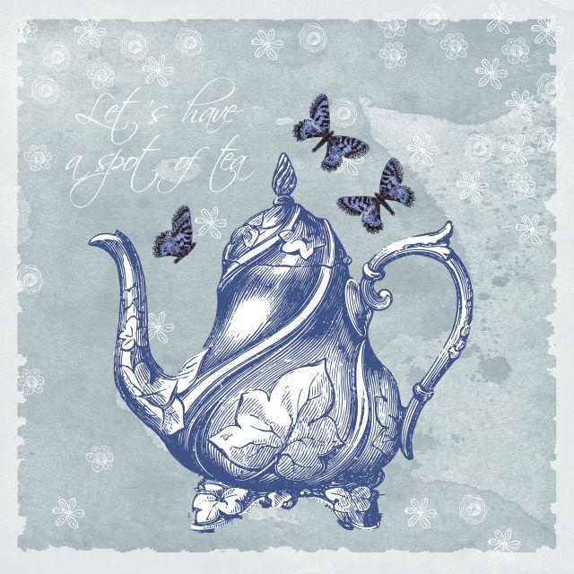 Poster Bule de chá