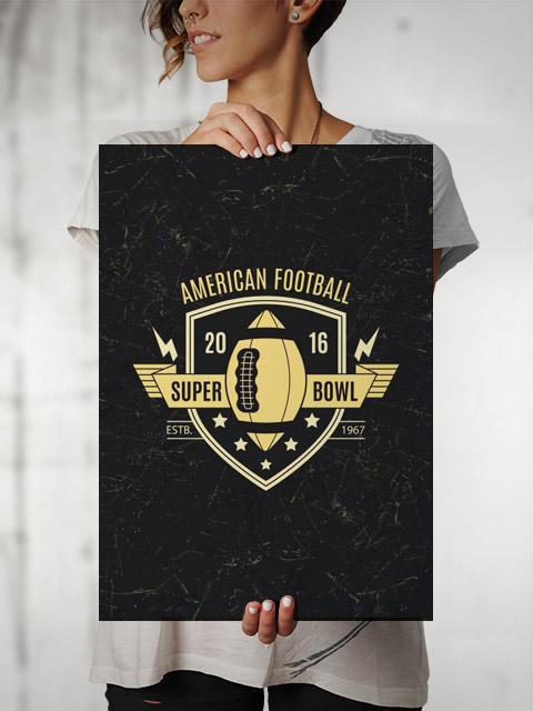 Poster Futebol Americano