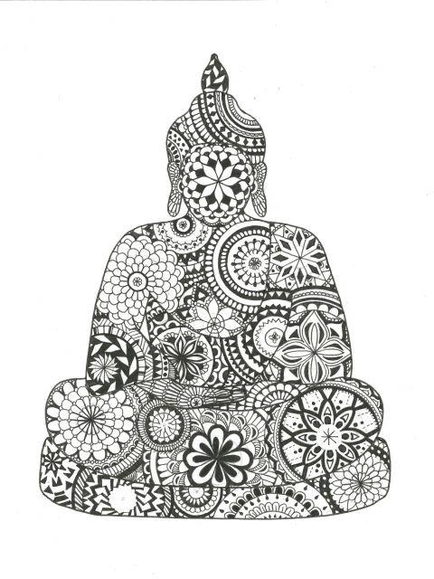 Poster Mandala Buddha