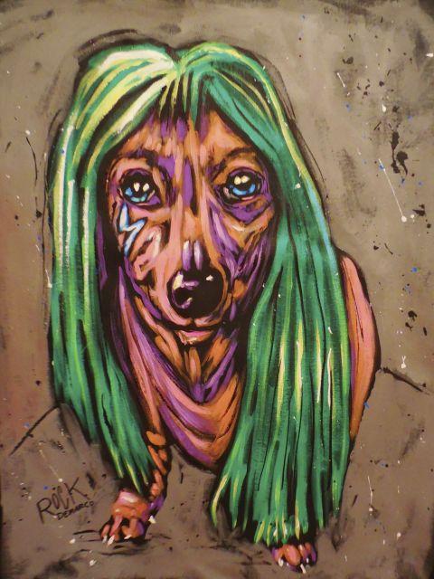 Poster Lady Bark Bark