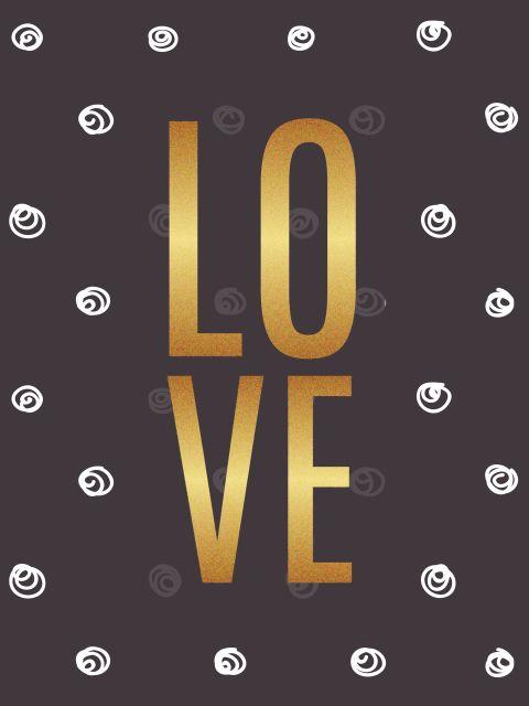 Poster Love Dourado I