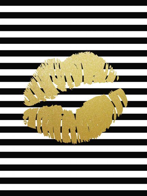 Poster Lábios Dourados
