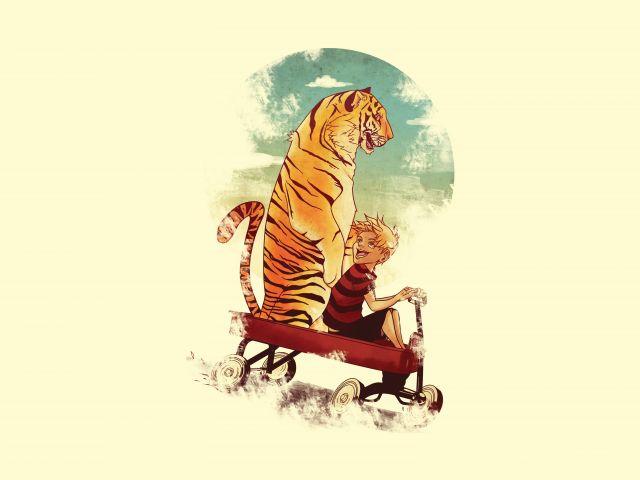 Poster Menino e Tigre