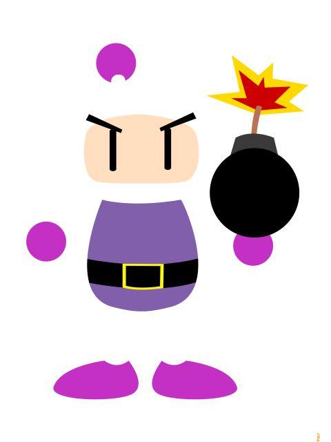 Poster Bomberman Minimalista  jogos
