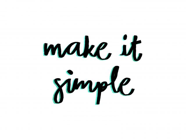 Poster Make It Simple