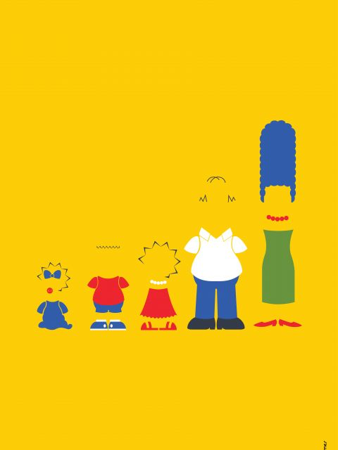 Poster Os Simpsons Minimalista