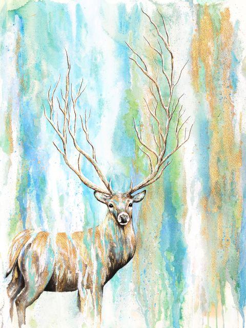 Poster Deer Tree   alce veado