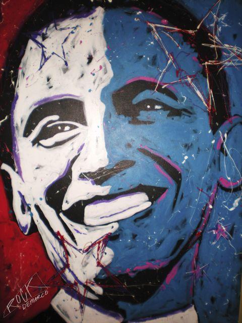 Poster Obama Painting 001