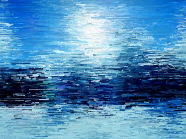 Poster Paisagem Azul