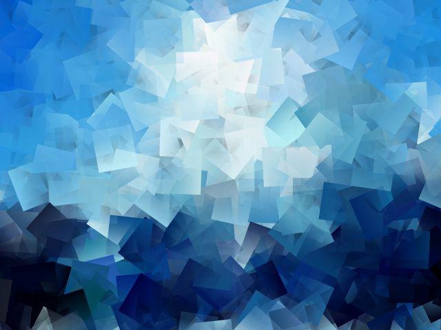Poster Formas em azul