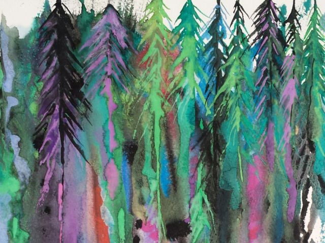 Poster Colorful Forest