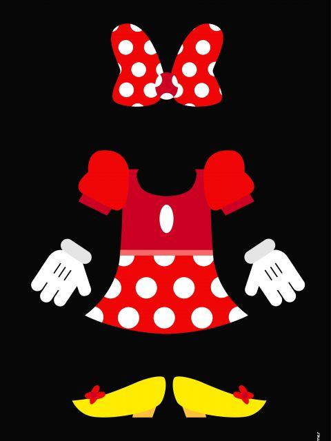 Poster Minnie Minimalista
