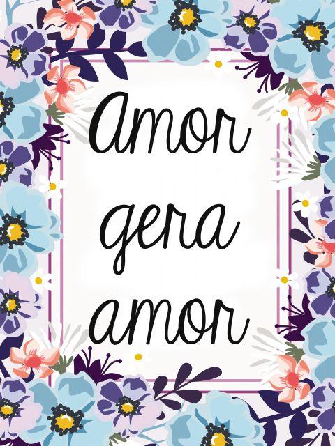 Poster Amor gera amor