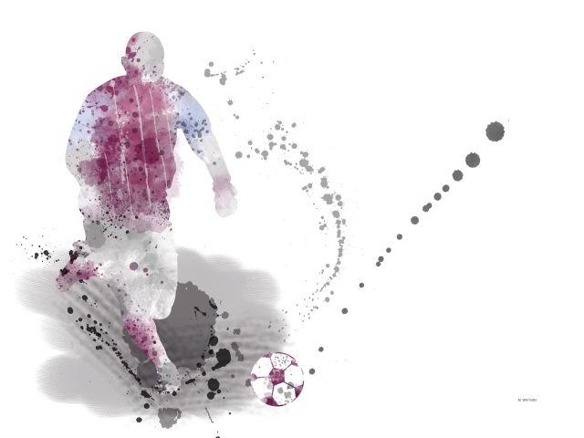 Poster Soccer Player 04