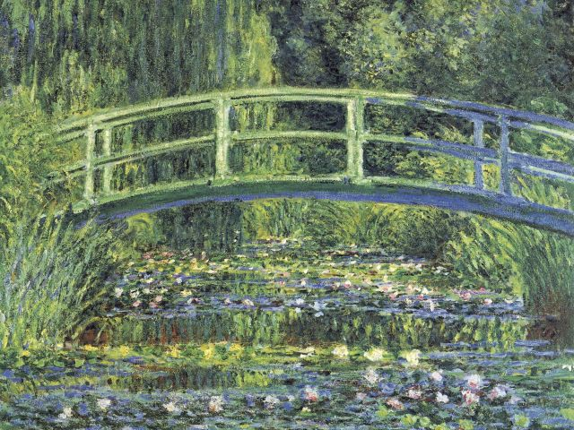 Poster Waterlilies And Japanese Bridge