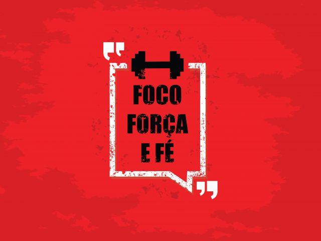 Poster Foco   pensamento reflexão vermelho força fé foco