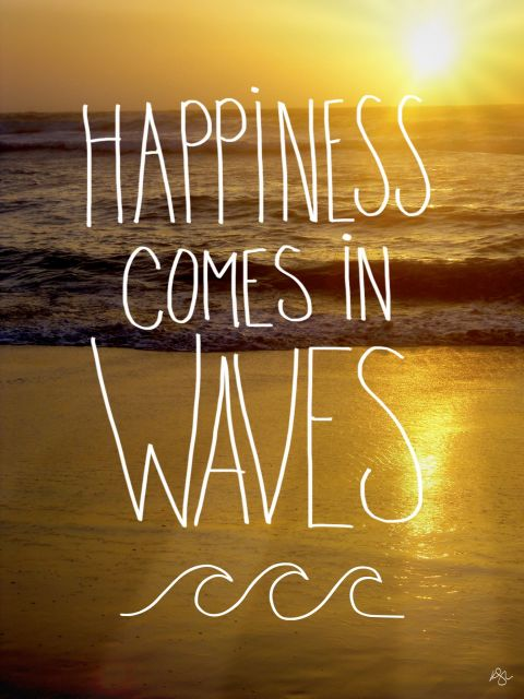 Poster Happiness In Waves