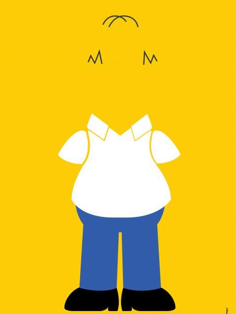 Poster Homer Simpson Minimalista
