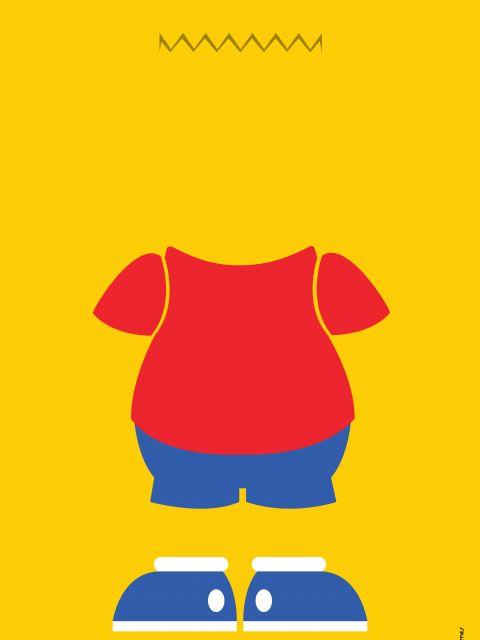 Poster Bart Simpson Minimalista