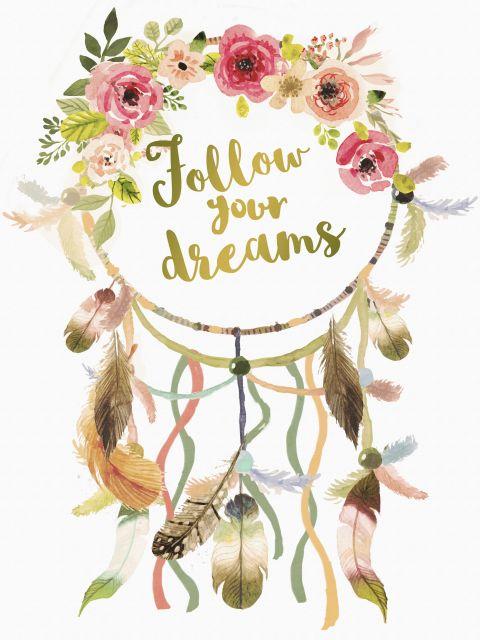 Poster Follow Your Dreams   Dreamcatcher filtro dos sonhos dream catcher