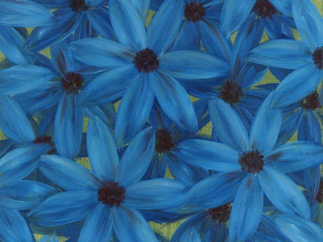 Poster Aster Azul   flores