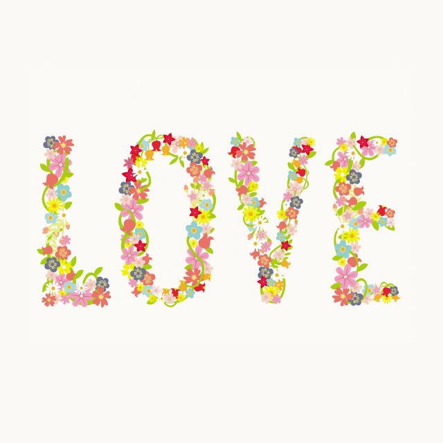 Poster Love Floral
