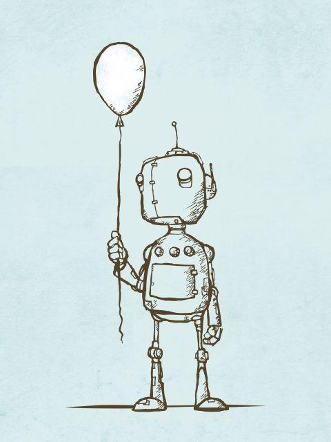 Poster Robot Balloon