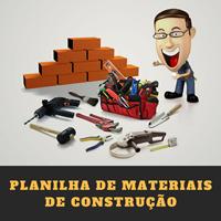 Planilha de Materiais de Construção Civil em m2