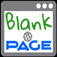 Blank Page Plugin WordPress