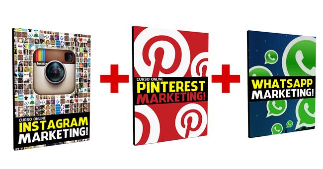 COMBO AÇÃO no Pinterest e Instagram Marketing