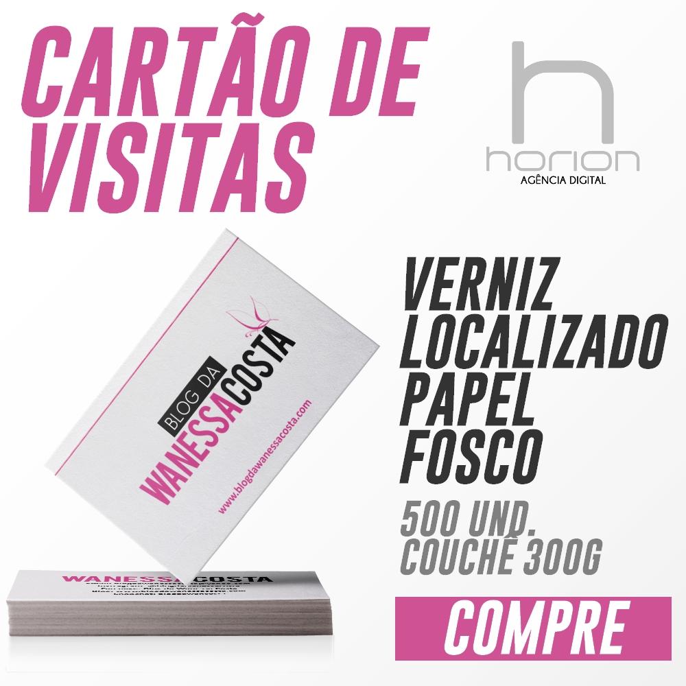 Cartão de Visitas | Verniz Localizado | 500 Unidades