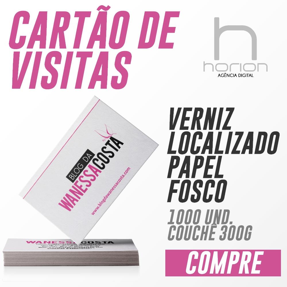 Cartão de Visitas | Verniz Localizado | 1000 Unidades