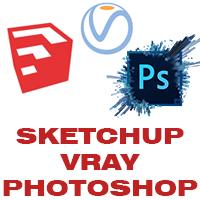 Combo 2 AEDesenho - Sketchup + Vray 3.4 + Photoshop