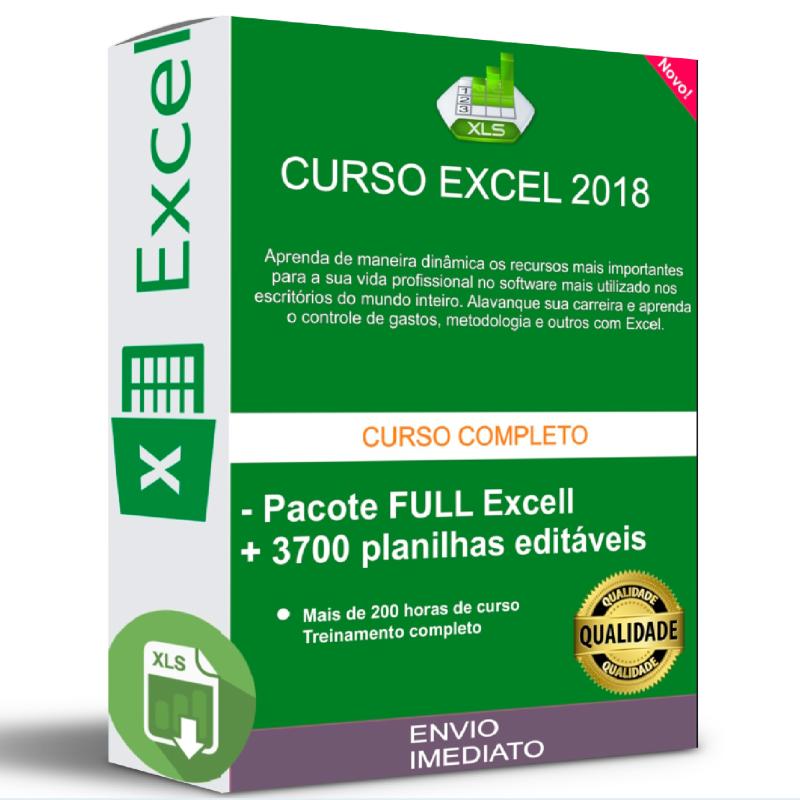 CURSO EXCEL FULL + 3700 PLANILHAS EDITÁVEIS