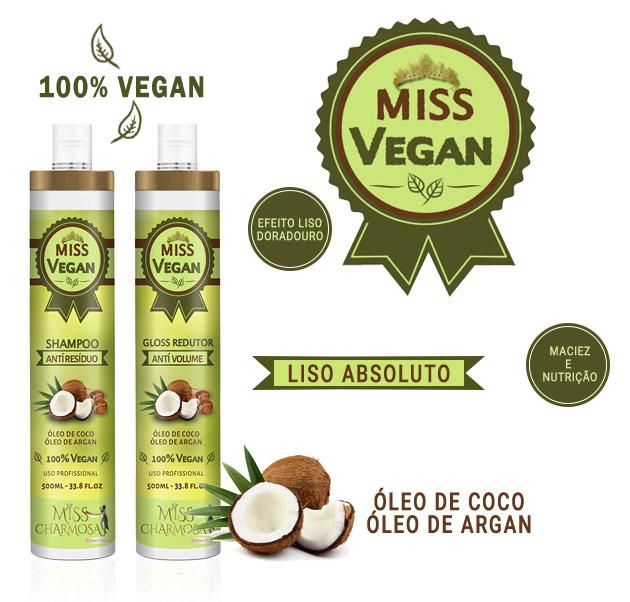 Miss Vegan - Escova Progressiva Sem Formol