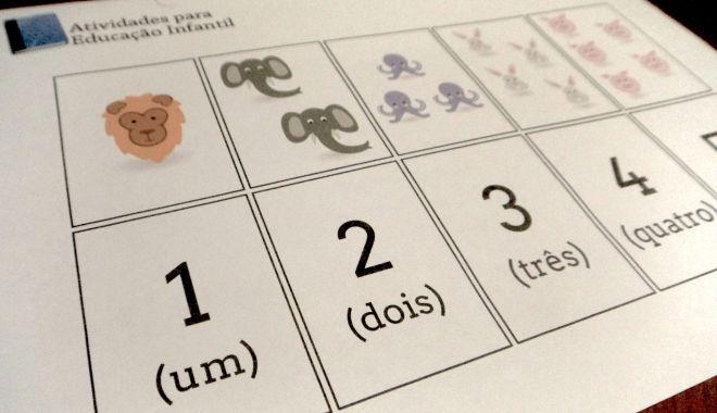 1 a 20 Cartões Numéricos