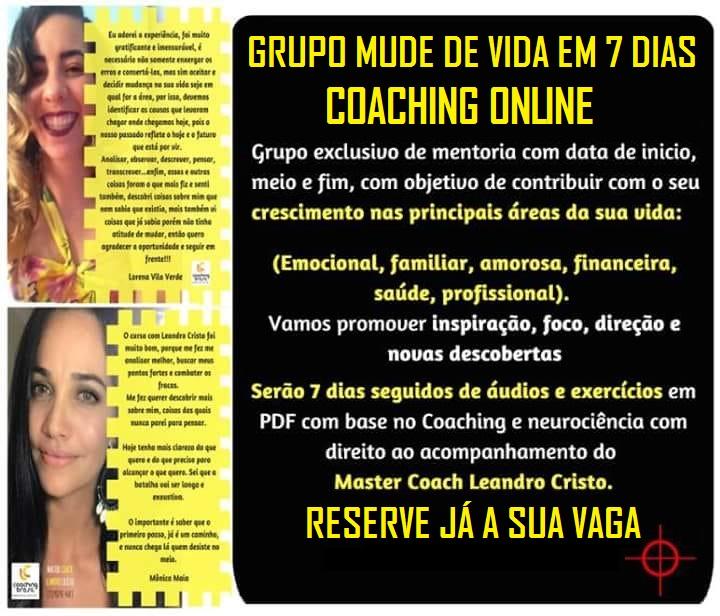 """Curso Online """"Mude de Vida em 7 Dias"""""""
