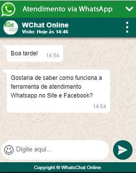 Ferramenta WhatsApp no Site