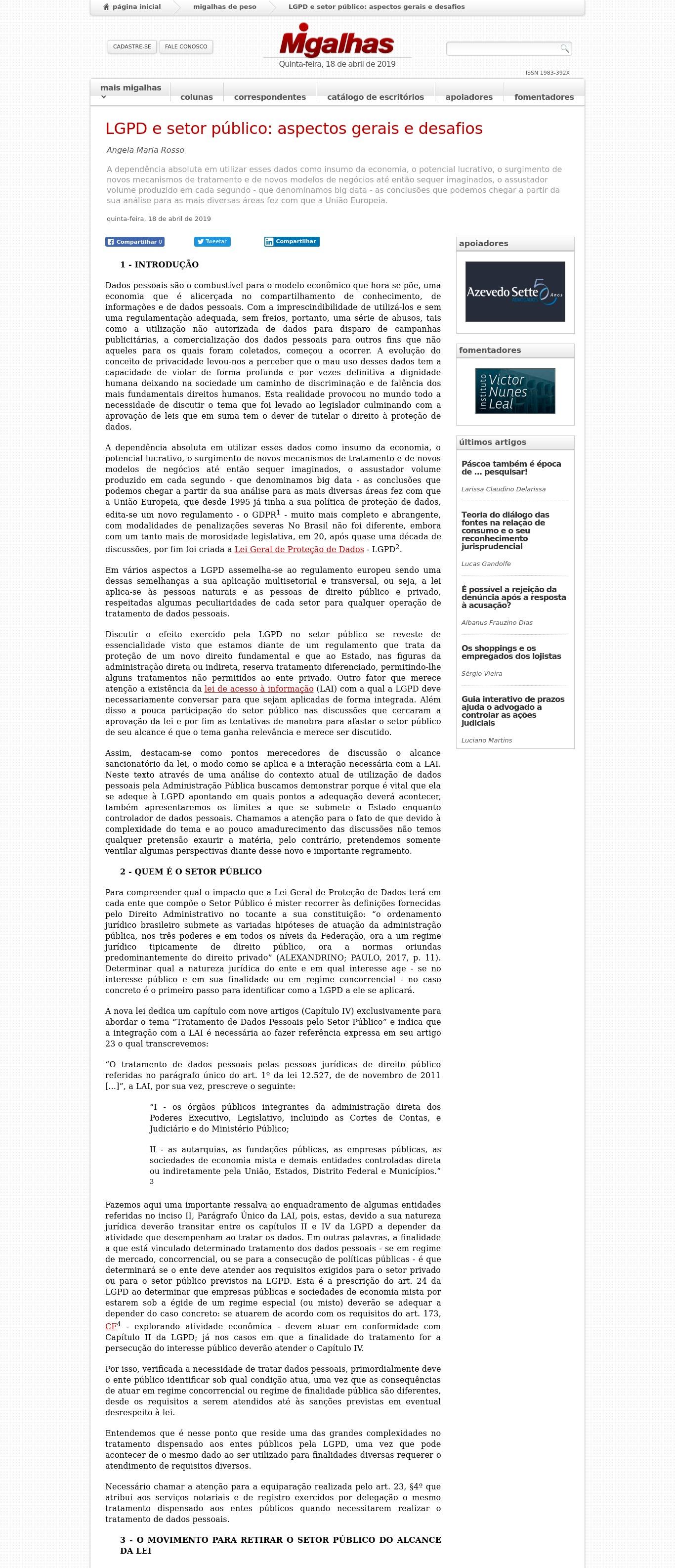 1dd7f2f2b Clipping de Notícias ABRIL - 2019